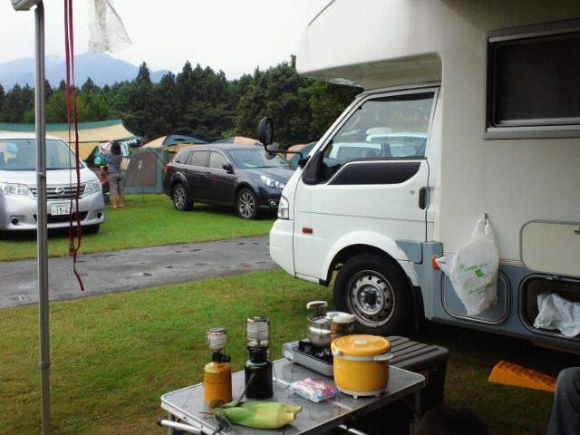 裾野でキャンプ